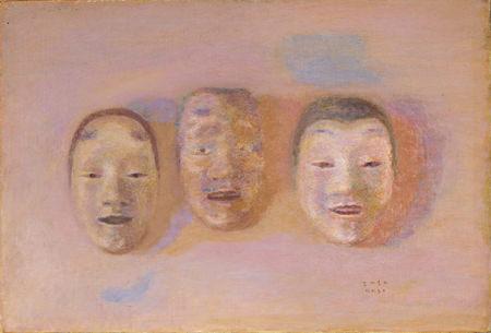 坂本繁二郎「能面」 1955年 福岡県立美術館蔵