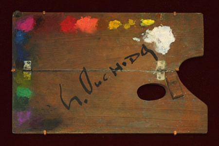 tam-201311-画家とパレット ~巨匠たちの創作のひみつ~-大内田茂士「パレット」笠間日動美術館所蔵