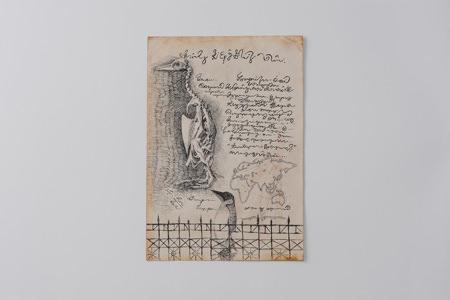 "t-torikawa-201402-とりかわつくね 小個展「第二極地観測所の本棚 ""南十字星を歩く夢""」-sample01"