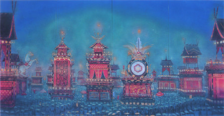 tam-201404-コレクション展Ⅰ 「四季を描く」-大田歳「高山春宵祭」