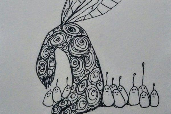 aspr-201611-川村知子・鍋島哲治 二人展「あの子の落書き」