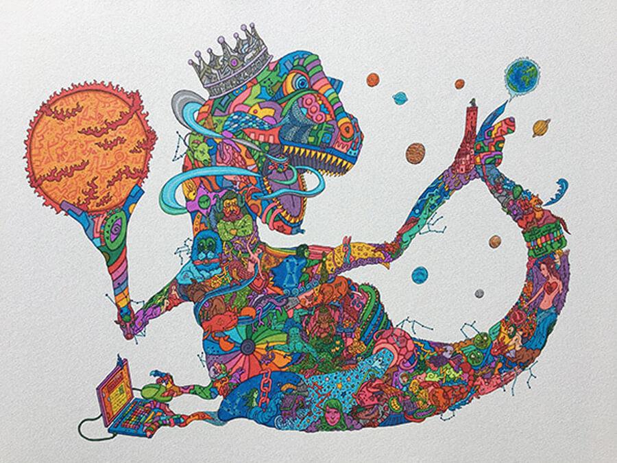 enlc-201811-画駱駝柑子-個展2