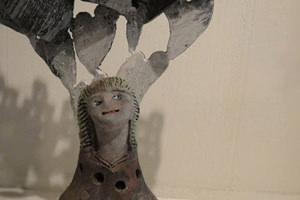 宮ノ上げんき-そのだ正治 個展 「まねきねこかぶりねこ」 こころ展-thumb