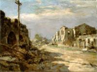 福岡アジア美術館-201401-フェルナンド・アモルソロ(フィリピン)「廃墟のイントラムロス」1945年
