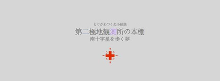 "t-torikawa-201402-とりかわつくね 小個展「第二極地観測所の本棚 ""南十字星を歩く夢""」"