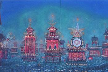 tam-201404-コレクション展Ⅰ 「四季を描く」-大田歳「高山春宵祭」-thumb