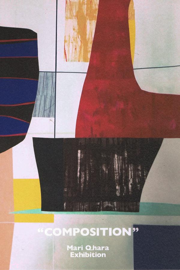 "rue-201510-大原麻利 作品展 ""COMPOSITION"" ""COMPOSITION"""