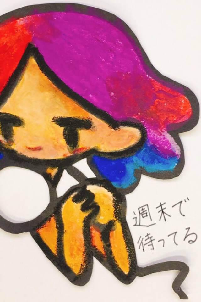 iaf-201711-坂井彩優美 個展 「週末で待ってる」