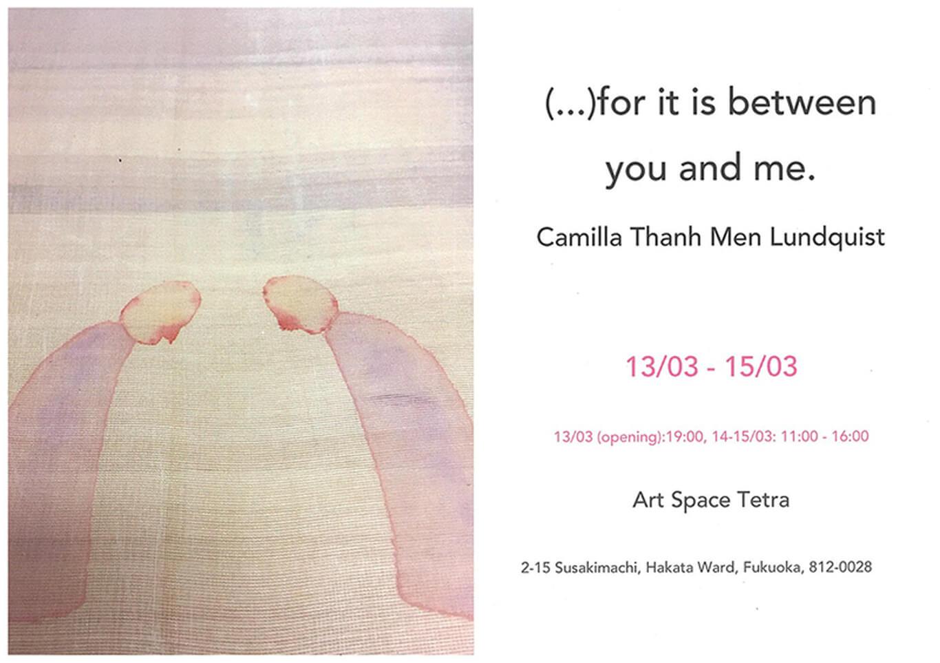 tetra-202003-Camilla Thanh Men Lundquist 個展1