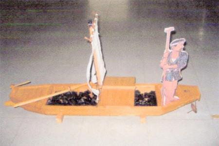 「川?(五平太舟)が往来した堀川」写真展1
